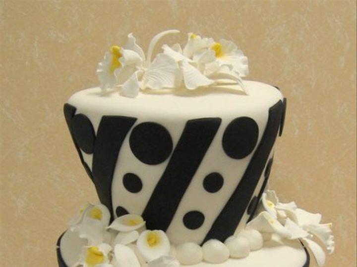 Tmx 1267859416940 Whimsicalblackwhite.jpg Huntington Beach, California wedding cake