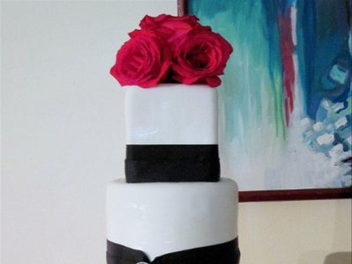 Tmx 1287362186883 Sqrdwhtblkbroach Huntington Beach, California wedding cake