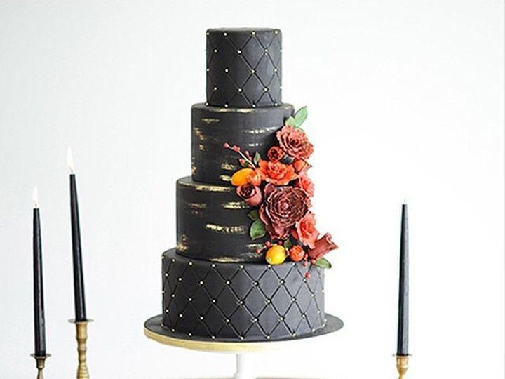 Tmx 1423855953026 Blackcake Huntington Beach, California wedding cake