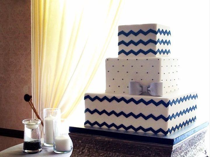 Tmx 1423855972737 Chevronnavy Huntington Beach, California wedding cake