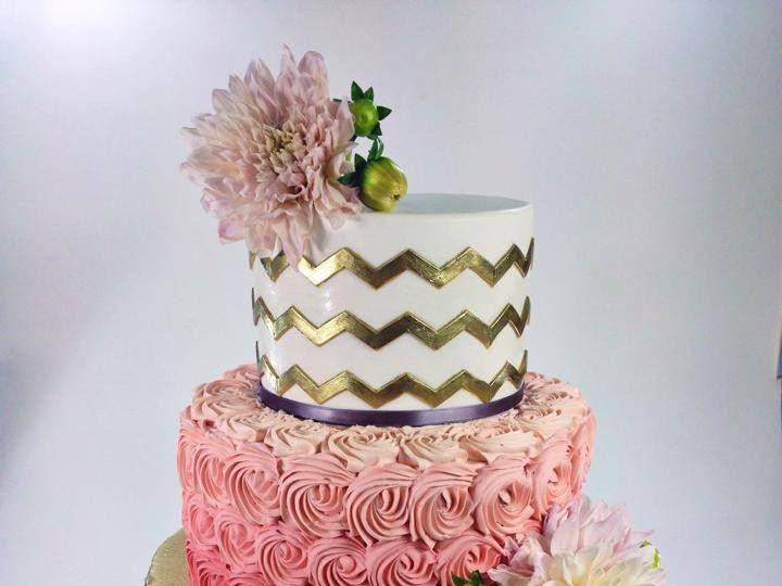 Tmx 1423855989516 Goldchevron Huntington Beach, California wedding cake