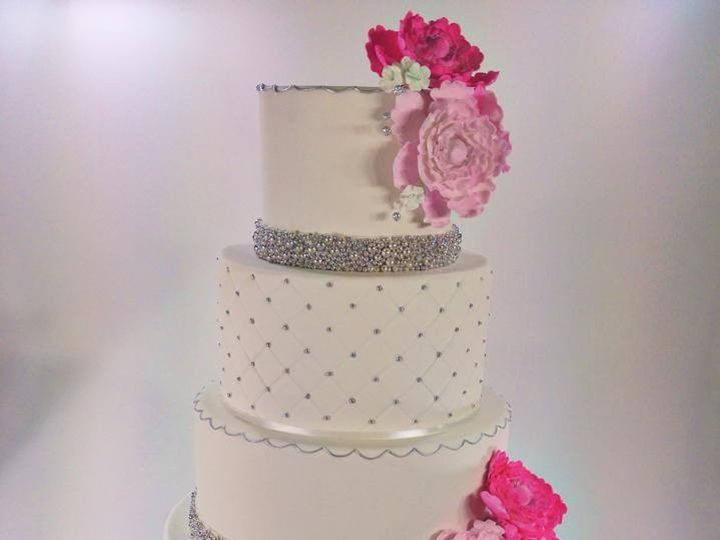 Tmx 1423856044825 Silverpink Huntington Beach, California wedding cake