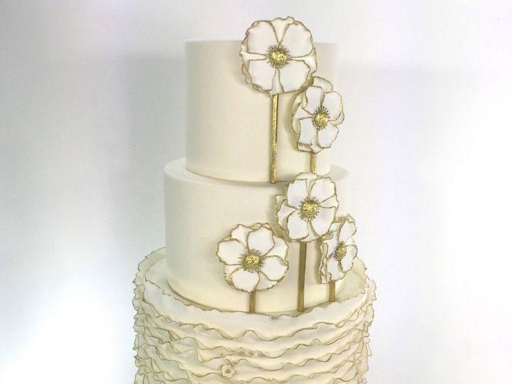 Tmx 1423865727242 Ruffleflower Huntington Beach, California wedding cake