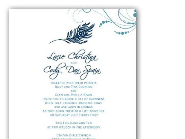 Tmx 1274416231380 Featherwithswirls Denton wedding invitation