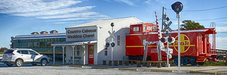 Caboose and Passenger Car