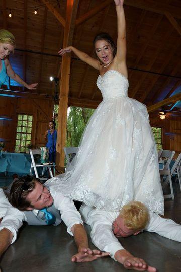 Bride Catches a Wave