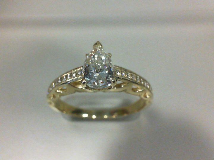 Tmx 1509038159252 Thomas Robert Jessica 14k Yg 1ct Pear Dia Eng Ring Albany wedding jewelry