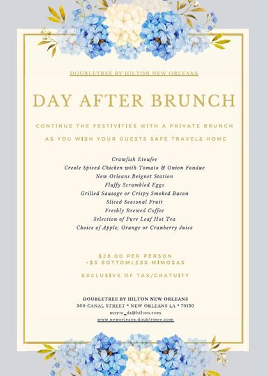 Send off Brunches