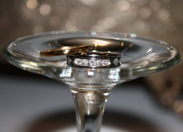 Another shot of the couple's wedding bands which I used their wedding glass turned upside down.