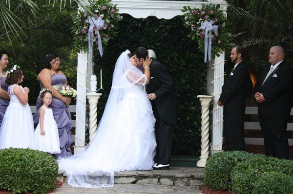 The kiss as husband and wife.