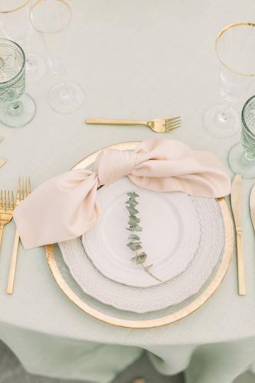 Sage tablecloth