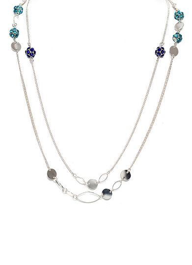 boho chic blue crystal necklace