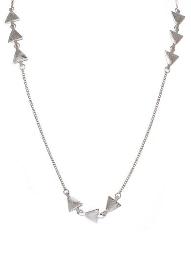 etched triangles necklace silver