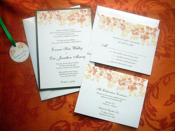 Amber Silhouette Wedding Stationery ~ Available at http://www.etsy.com/shop/PrettyStationeryShop