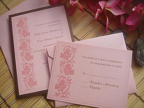 Modern Lace Wedding Invitations ~ Available at http://www.etsy.com/shop/PrettyStationeryShop
