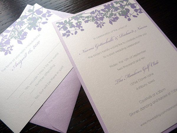 Amber Silhouette Wedding Invitations ~ Available at http://www.etsy.com/shop/PrettyStationeryShop
