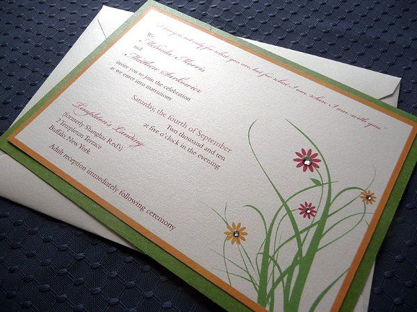 Floral Whimsy Wedding Invitations ~ Available at http://www.etsy.com/shop/PrettyStationeryShop