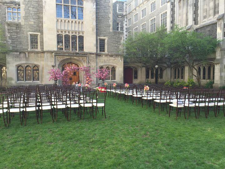 Outdoor wedding ceremony stage