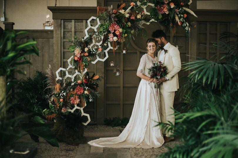 Couple's portrait in doors