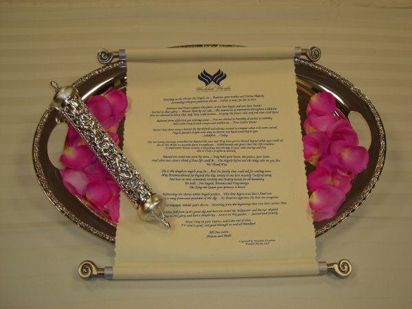 Personalize your wedding like no other! Your wedding poem arrives on a silver platter adorned with...