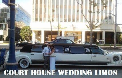 Court house wedding limo