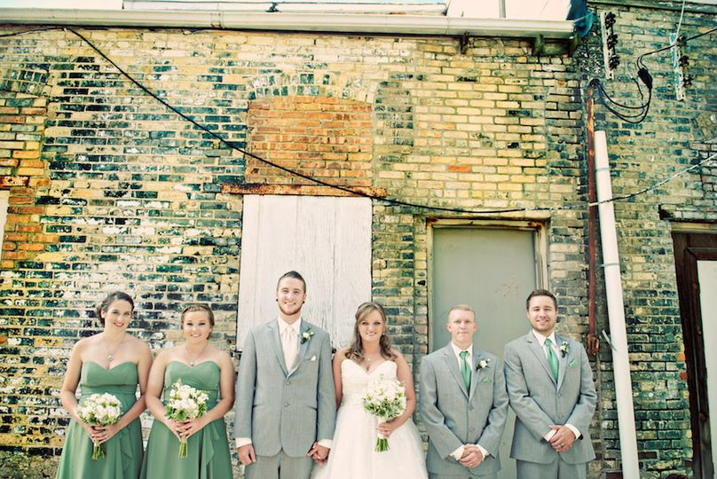 fun wedding party photo janesville wi