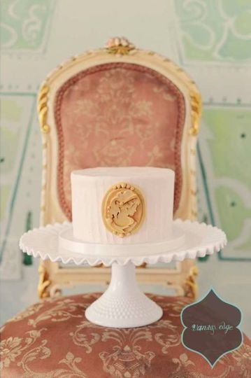 Single white wedding cake