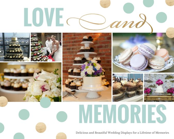 wedding collage polka dots