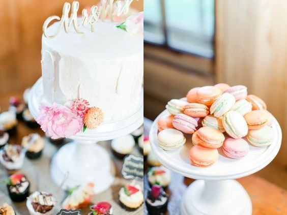 wedding display cake and macarons copy