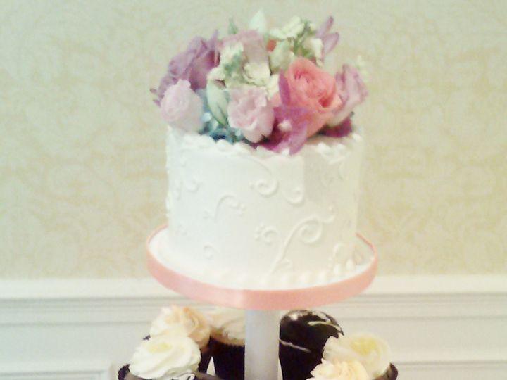 Tmx 1468596277772 Petal Wedding Cupcake And Cake Display 2  wedding cake