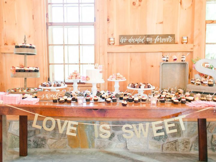 Tmx 1481134363860 Pond View Wedding Dessert Display Megan Kelsey Pho  wedding cake