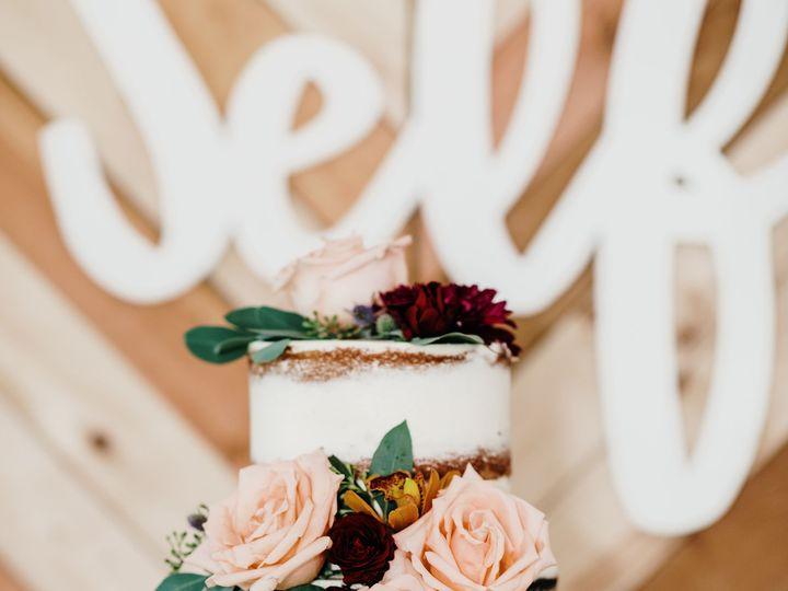 Tmx 3 Tier Cake Wedding Display Flowers Greenery Rebecca Renner Photography 51 365394 161540230787016  wedding cake