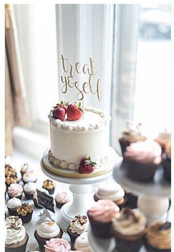 Wedding cake with fun topper