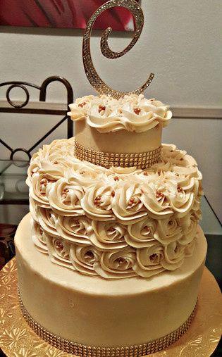 Wedding cake with three layers