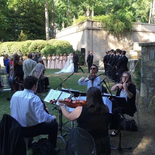 Spring wedding at the Swan House, Atlanta History Center