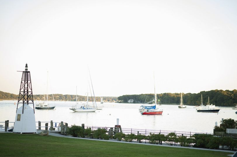 The view of Essex harbor from the historic Samuel Lay House lawn.