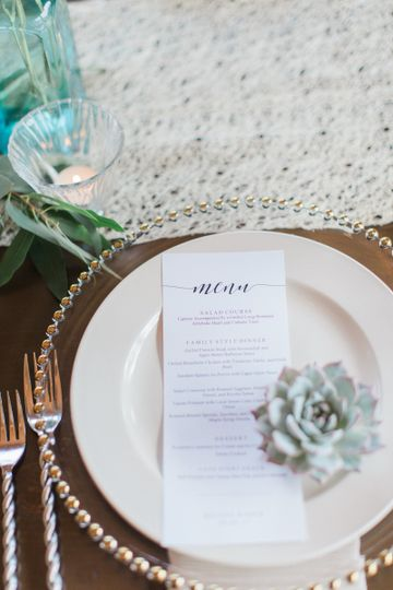 Soft colors on a striking table setting