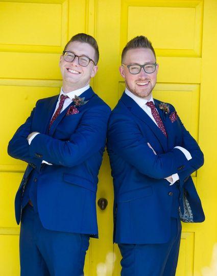 Bobby and Luke Yellow Door