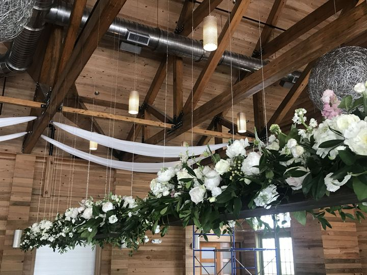 Hanging flower decorations