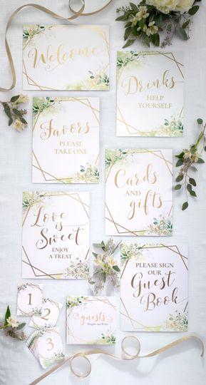 Botanical Wedding Signs