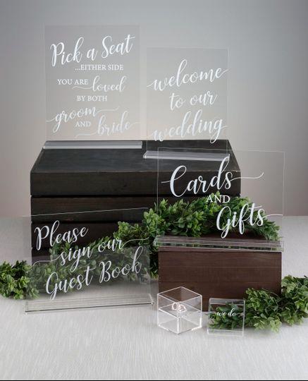 Clear Acrylic Wedding Signs