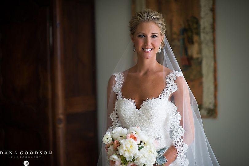 Bride in classic white