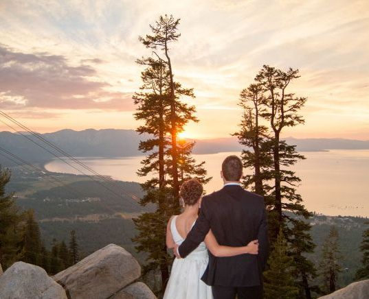 Sunset from Lakeview Lodge at