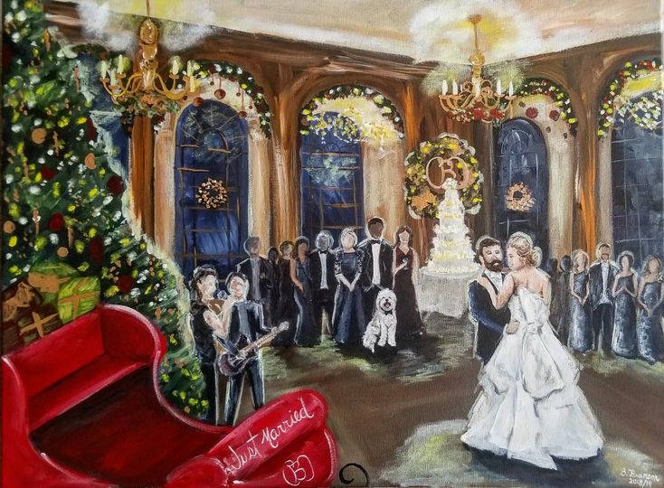 Baltimore first dance painting
