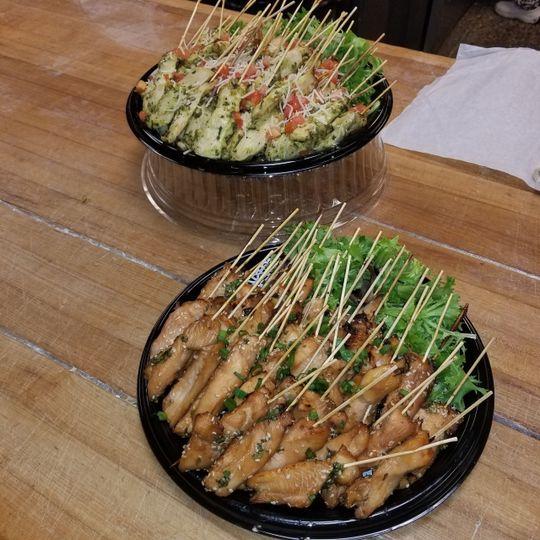 Food on sticks