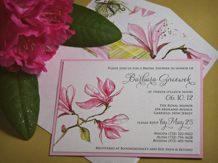 Tmx 1355503717443 Barbarashower Allendale wedding invitation