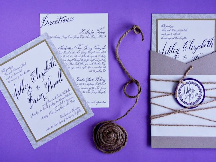 Tmx 1418396297869 Ashleybrianinvite Allendale wedding invitation