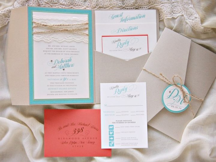 Tmx 1418396304339 Deborahmatthewinvite Allendale wedding invitation