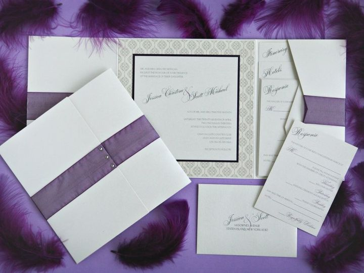 Tmx 1418396311376 Jessicascottinvite Allendale wedding invitation