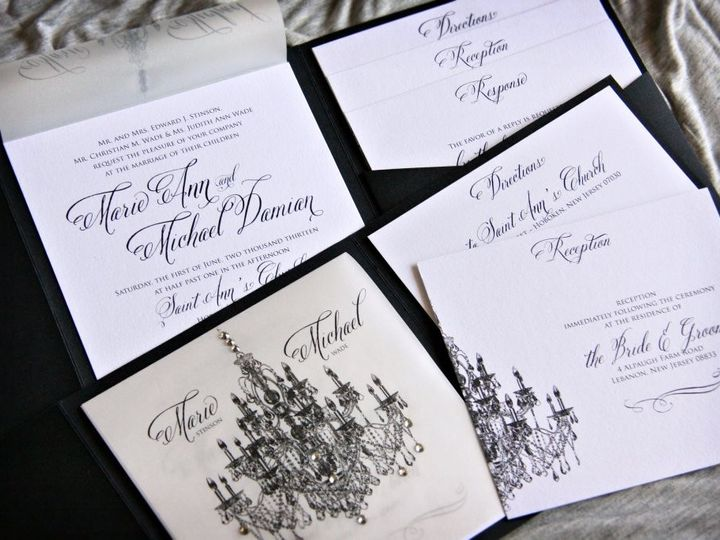 Tmx 1418396324428 Mariemichaelinvite Allendale wedding invitation